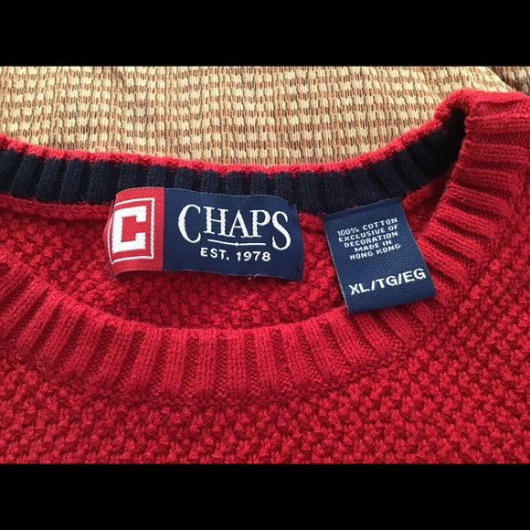 Chaps Other - Chaps bright red men's sweater size xl. NWOT